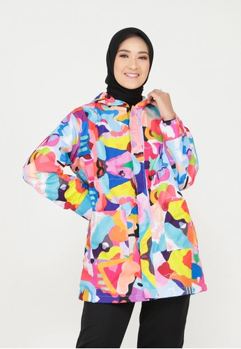 Mimamim blue Hasya All Over Print Jacket AFEC1AAA3E244CGS_1