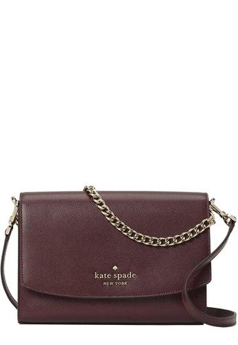 Kate Spade red Kate Spade Carson Convertible Crossbody Bag in Cherrywood 9FF49AC234B4A3GS_1