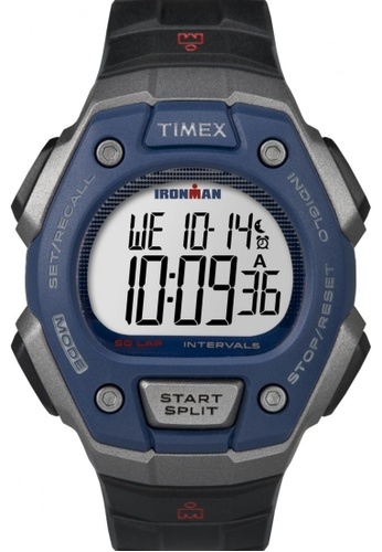 TIMEX black Timex IRONMAN® Classic 50 Full-Size - Black Resin Strap Watch TI857AC79COESG_1