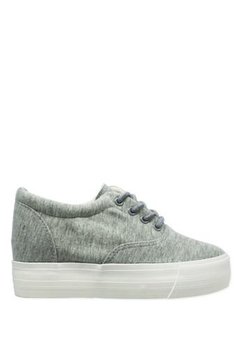 Twenty Eight Shoes grey and white Hidden Heel Platform Shoes TW446SH87YXKHK_1