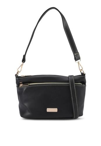 Unisa black Faux Leather Convertible Top Handle Bag 80D48AC91F2789GS_1
