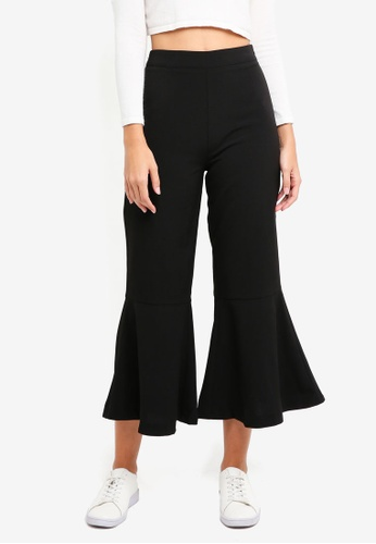 ZALORA black Kick Flare Pants 96EB4AA6BC8685GS_1