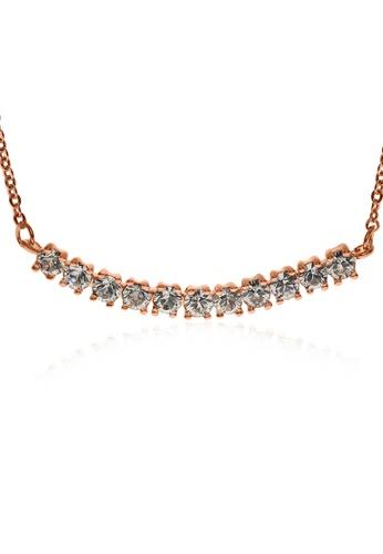 Alfredulla gold Bentbar Rose Gold Crystal Necklace 5B114AC34D8698GS_1