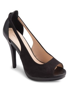 Cut Out Peep Toe Pump Heel