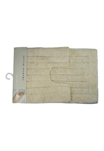 Charles Millen Charles Millen CMST Oi-4186 Fuse 100% Cotton Tufted Bath Rug 40x40 and 40x60cm / 650g. A3D00HL5036496GS_1
