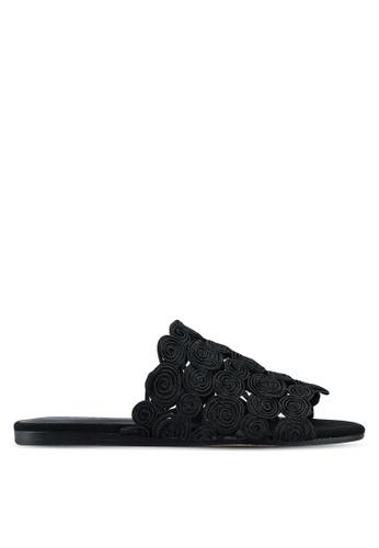 Mango black Braided Design Sandals DFBF2SH972150FGS_1