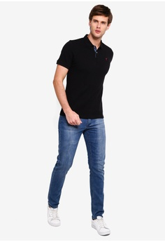 f8eae748 10% OFF Guess Embroidered Guess Question Mark Short Sleeve Polo Shirt S$  149.00 NOW S$ 133.90 Sizes M L XL