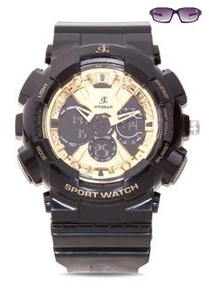 Analog Watch With Free Sunglasses JC-H1113K-SB-01
