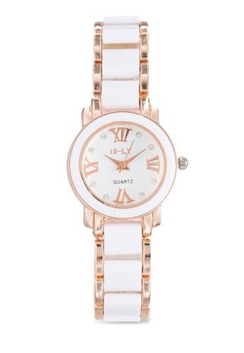 雙esprit 品牌色陶瓷錶帶圓錶, 錶類, 飾品配件