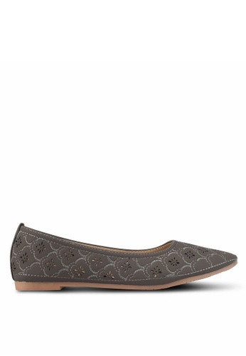 Spiffy grey The Different Classic Casual Flats D65F5SH637A1C9GS_1