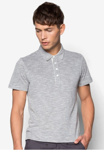 混色暗紋POLzalora 包包 pttO 衫, 服飾, Polo衫