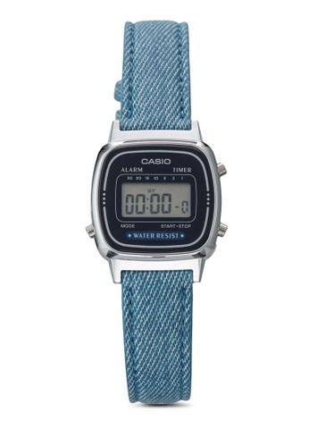 Casio blue Casio Jam Tangan - Blue Silver - Canvas - LA670WL-2A2DF B4181ACEE21085GS_1