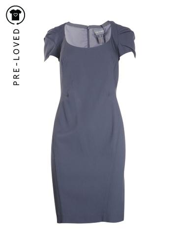 Zac Posen grey Pre-Loved zac posen Slate Grey Knee Length Dress E2077AA4936C80GS_1