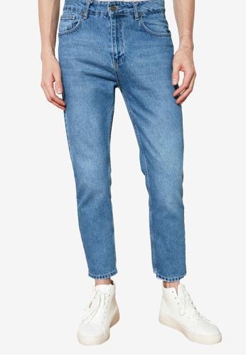 Trendyol blue Slim Fit Cropped Jeans 9DDBEAA993B13DGS_1