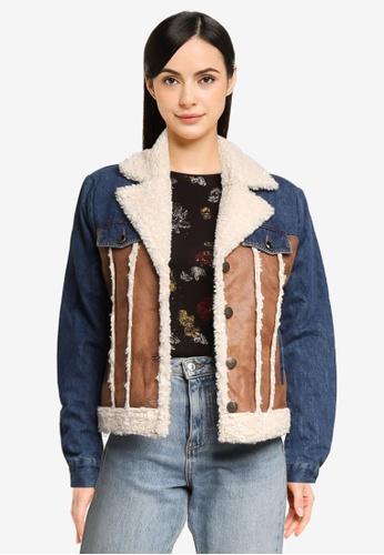 Desigual brown Daniela Denim Jacket 5E560AAA21219DGS_1