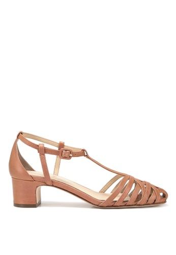RABEANCO brown RABEANCO ESTELLA STRAPPY Mid-Heel Sandals - Camel 53B33SH45F92ACGS_1
