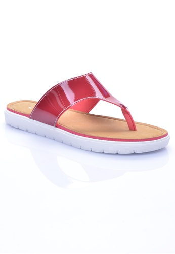 LENO red FLAVIA Flip Flops (LS36544) LE122SH35OIAMY_1