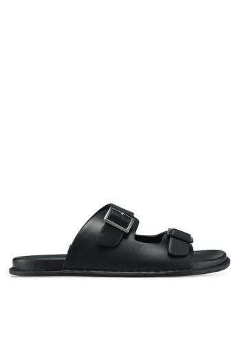Bata black Classic Double Strap Sandals 8EA34SH76D0B60GS_1