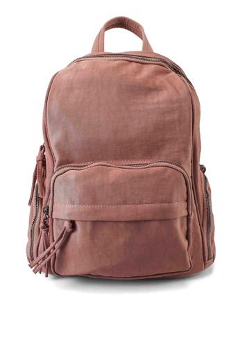 NUVEAU pink Oxford Nylon Backpack DE2B5AC8D184BFGS_1