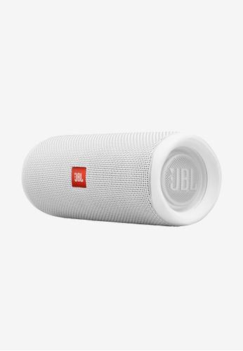 JBL white JBL Flip 5 Portable Waterproof Speaker 31DC8ESFF34FBEGS_1