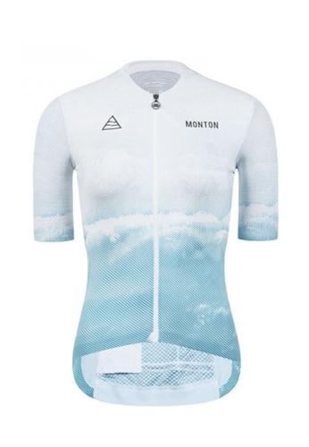 MONTON white Monton jersey women short sleeve beach A9833AA9AE111AGS_1