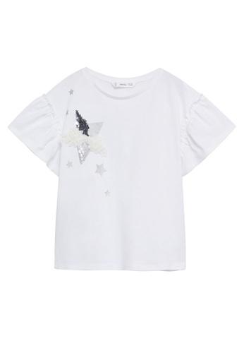 MANGO KIDS white Textured Print T-Shirt E6C03KA942B90FGS_1