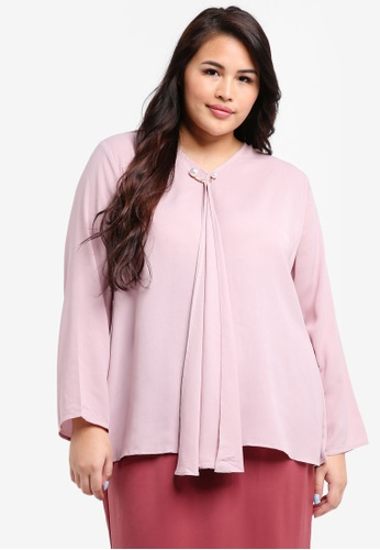 peace collections pink Plus Size Blouse 561A4AA3D81F1EGS_1