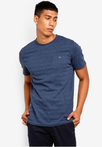 Brave Soul 藍色 胸前口袋圓領T恤 7223EAA74A1616GS_1
