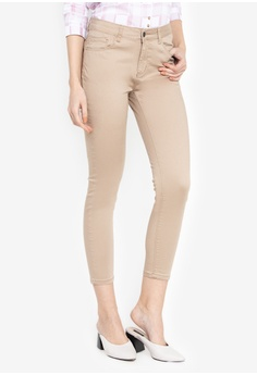 354c9139e172 REDGIRL beige Slim   Cropped Femme Colored Pants D98CEAA605409AGS 1