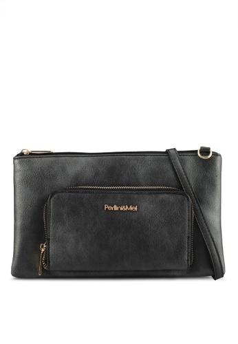 Perllini&Mel black Faux Leather Sling Bag 06FEDAC08D0FE9GS_1