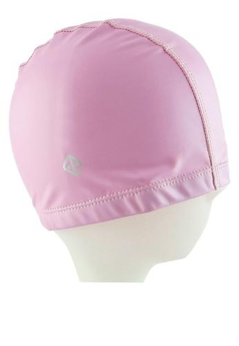 Funfit pink PU Swim Cap FU839AC56QLZMY_1