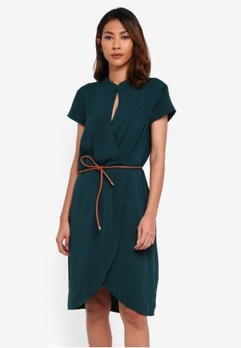OVS green Woven Mini Dress 69470AAA60F796GS_1