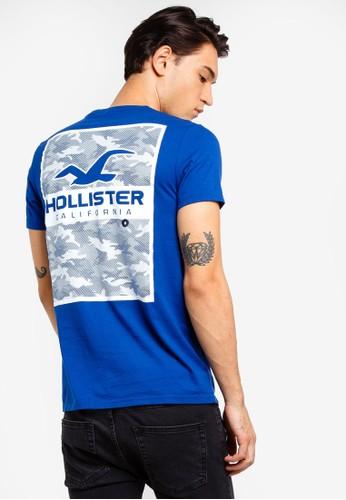 Hollister blue Short Sleeve Camo Print T-Shirt 7C133AAFCAA707GS_1