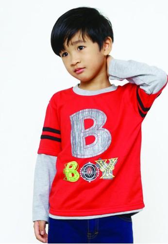 YEGE red YeGe T'shirt Anak Lengan Panjang Polos 6D62AKAFCAD3E4GS_1