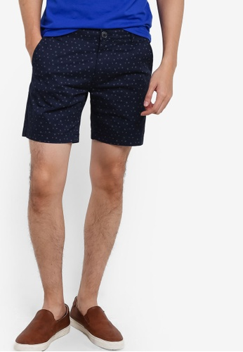 Selected Homme blue Small Floral Printed Shorts SE364AA11YUYMY_1