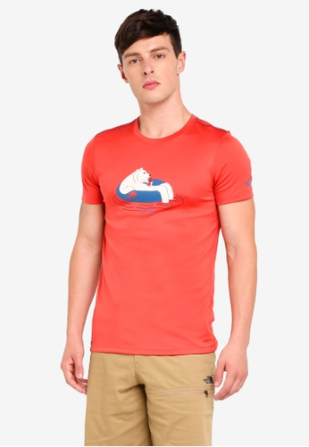 13e067273 TNF M S/S Extra Day Bear Tee - Ap Sunbaked Red