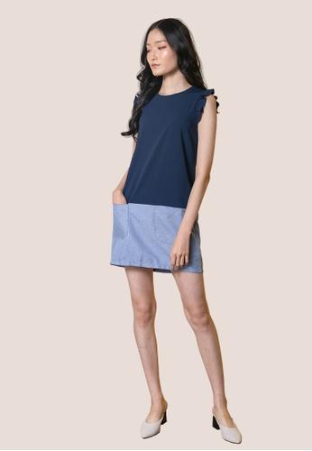 L'zzie blue LZZIE AMANDINE DRESS - BLUE DA203AAFD05061GS_1