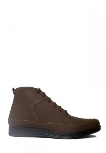 D-Island brown D-Island Shoes Boots Reborn Leather Dark Brown 7A57ESH314F247GS_1