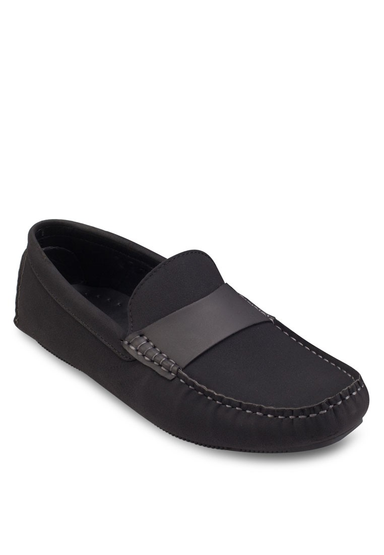 Faux Leather With Strap Detail Loafers