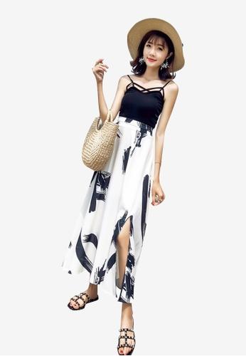 Lara multi Women Printed Side Slit Skirt 22FBDAA2EB421BGS_1
