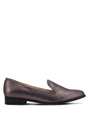 ZALORA grey Textured Loafers ADD1ASH4E09BC0GS_1