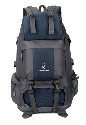 Jackbox blue FlameHorse Water Resistant Camping Travelling Hiking Backpack 50L 152 B4240AC007EAF5GS_1