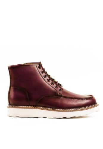 Twenty Eight Shoes Cognac Vintage Leather Brogue Boot G623-1 C500DSHC3FEBB1GS_1