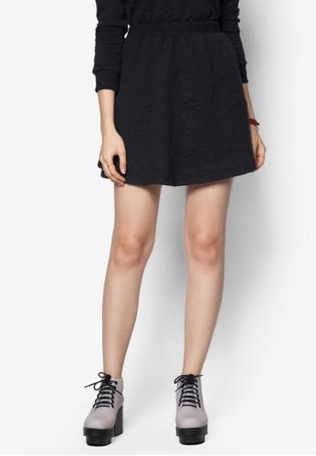 提花短裙, 服飾,zalora 評價 迷你裙