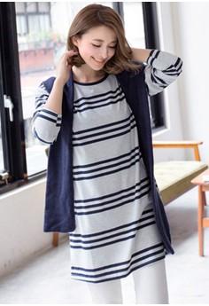 [IMPORTED] Minimalist Stripy Dress - Grey