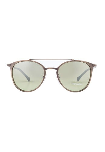 Police beige POLICE Rival 9 Oval Classy Beige Sunglasses SPL156 PO706AC42OZXMY_1