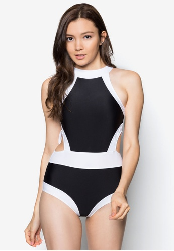 PINK N' PROPER black Agent Romanoff Swimsuit 14E6EUS4AAB974GS_1