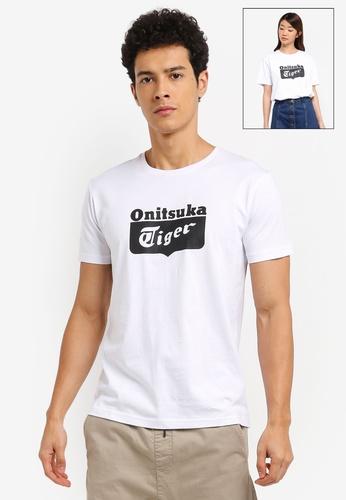 Onitsuka Tiger white Logo T-Shirt ON067AA0SVWYMY_1