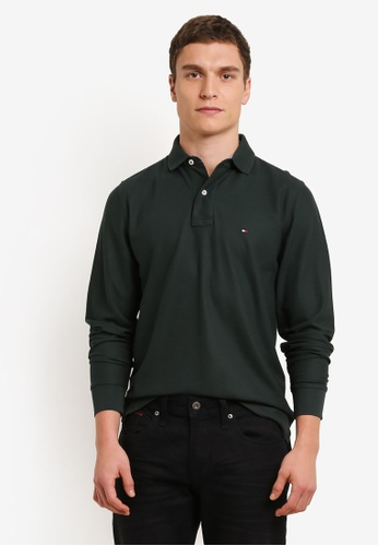 Tommy Hilfiger green 50/2 PERFORMANCE POLO L/S RF TO861AA0SYG6MY_1