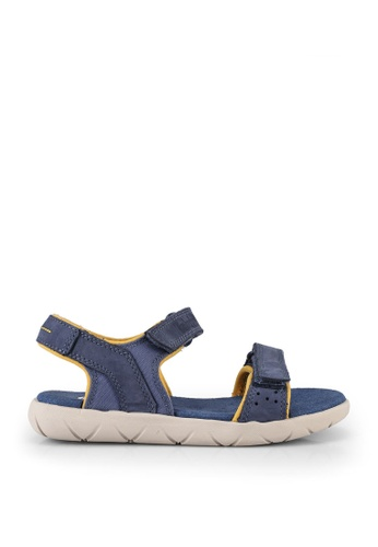 Timberland blue Nubble Leather And Fabric 2-Strap Sandals DD2A1KS3400AABGS_1